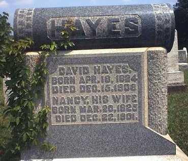 HAYES, NANCY AGNES - Washington County, Ohio | NANCY AGNES HAYES - Ohio Gravestone Photos