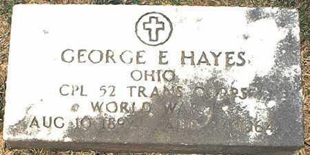 HAYES, GEORGE E. - Washington County, Ohio   GEORGE E. HAYES - Ohio Gravestone Photos