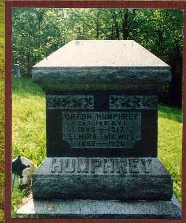 HUMPHREY, ELISHA ORTON - Washington County, Ohio | ELISHA ORTON HUMPHREY - Ohio Gravestone Photos