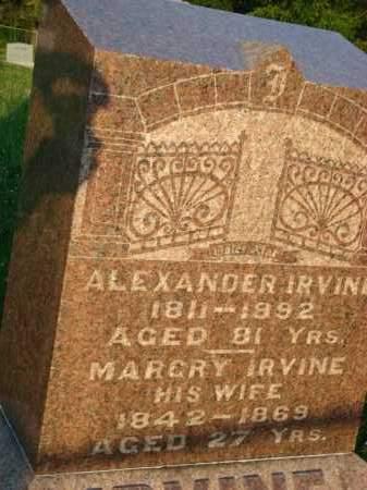 IRVINE, ALEXANDER - Washington County, Ohio | ALEXANDER IRVINE - Ohio Gravestone Photos