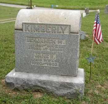 KIMBERLY, BENJAMIN - Washington County, Ohio | BENJAMIN KIMBERLY - Ohio Gravestone Photos