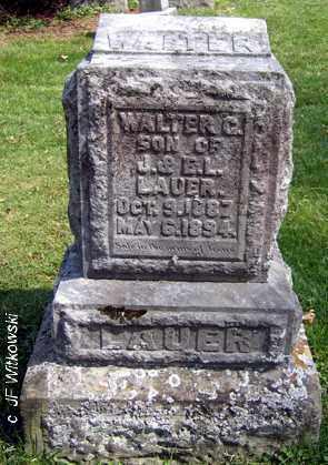 LAUER, WALTER - Washington County, Ohio   WALTER LAUER - Ohio Gravestone Photos