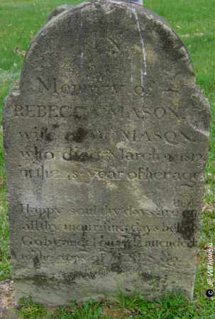 MASON, REBECCA - Washington County, Ohio | REBECCA MASON - Ohio Gravestone Photos