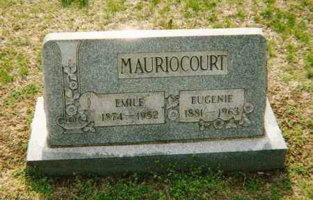 MAURIOCOURT, EMILE - Washington County, Ohio | EMILE MAURIOCOURT - Ohio Gravestone Photos