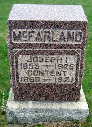 MCFARLAND, CONTENT - Washington County, Ohio   CONTENT MCFARLAND - Ohio Gravestone Photos