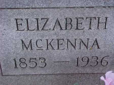MCKENNA, ELIZABETH - Washington County, Ohio | ELIZABETH MCKENNA - Ohio Gravestone Photos