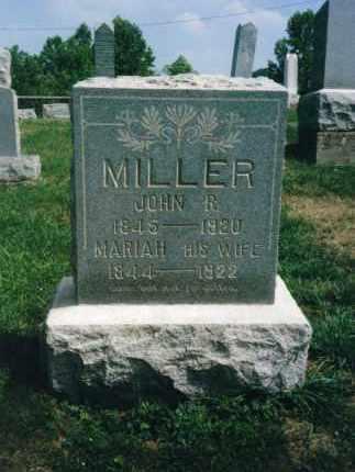 MILLER, JOHN R. - Washington County, Ohio   JOHN R. MILLER - Ohio Gravestone Photos