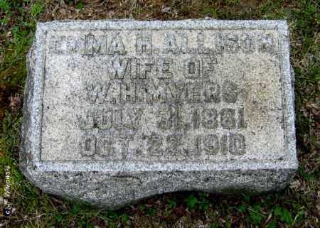 ALLISON MYERS, EMMA H. - Washington County, Ohio | EMMA H. ALLISON MYERS - Ohio Gravestone Photos