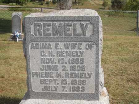 REMELY, ADINA E. - Washington County, Ohio | ADINA E. REMELY - Ohio Gravestone Photos