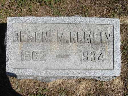 REMELY, BENONI M. - Washington County, Ohio   BENONI M. REMELY - Ohio Gravestone Photos