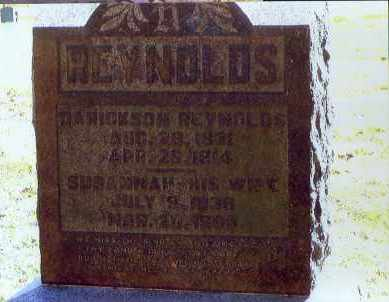 HOFF REYNOLDS, SUSANNAH - Washington County, Ohio   SUSANNAH HOFF REYNOLDS - Ohio Gravestone Photos