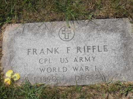 RIFFLE, FRANK F. - Washington County, Ohio   FRANK F. RIFFLE - Ohio Gravestone Photos
