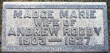 RODDY, MADGE MARIE - Washington County, Ohio   MADGE MARIE RODDY - Ohio Gravestone Photos