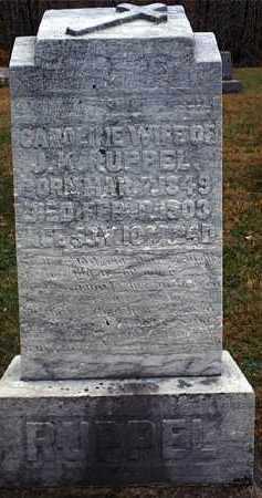 RUPPEL, CAROLINE - Washington County, Ohio | CAROLINE RUPPEL - Ohio Gravestone Photos