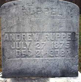 RUPPEL, JOHN ANDREW - Washington County, Ohio   JOHN ANDREW RUPPEL - Ohio Gravestone Photos