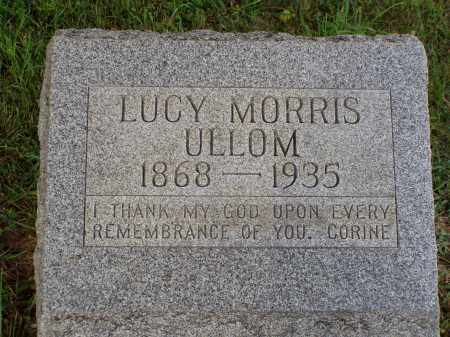 MORRIS ULLOM, LUCY - Washington County, Ohio | LUCY MORRIS ULLOM - Ohio Gravestone Photos