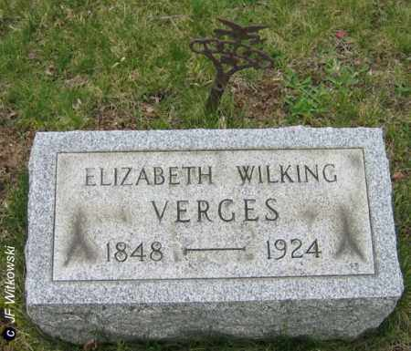 WILKING VERGES, ELIZABETH - Washington County, Ohio | ELIZABETH WILKING VERGES - Ohio Gravestone Photos