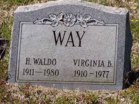 WAY, VIRGINIA B. - Washington County, Ohio   VIRGINIA B. WAY - Ohio Gravestone Photos