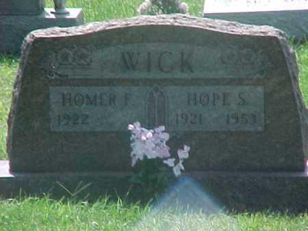 WICK, HOPE - Washington County, Ohio | HOPE WICK - Ohio Gravestone Photos