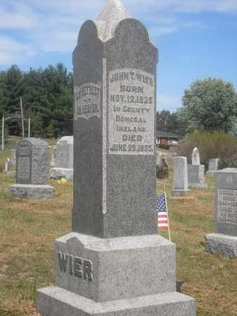 WIER, JOHN T. - Washington County, Ohio | JOHN T. WIER - Ohio Gravestone Photos