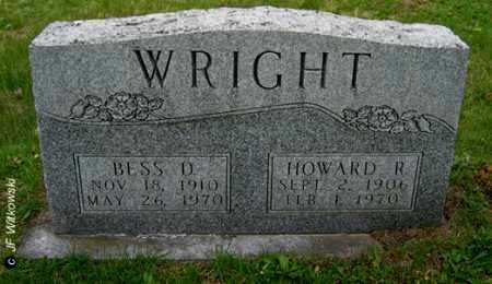DIXON WRIGHT, BESS - Washington County, Ohio | BESS DIXON WRIGHT - Ohio Gravestone Photos