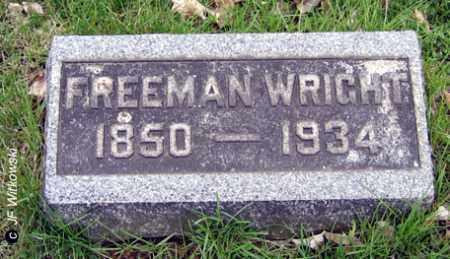 WRIGHT, FREEMAN - Washington County, Ohio | FREEMAN WRIGHT - Ohio Gravestone Photos