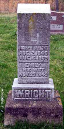 WRIGHT, JOSEPH - Washington County, Ohio | JOSEPH WRIGHT - Ohio Gravestone Photos
