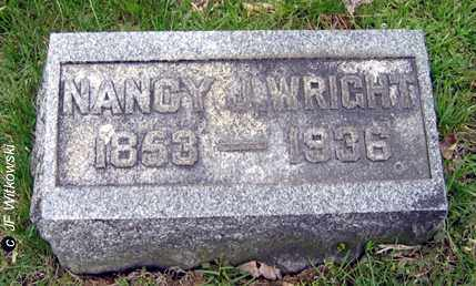 WRIGHT, NANCY J. - Washington County, Ohio | NANCY J. WRIGHT - Ohio Gravestone Photos