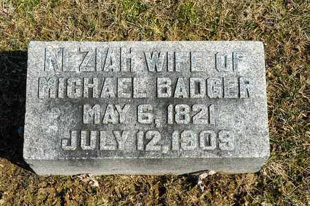 BADGER, KEZIAH - Wayne County, Ohio | KEZIAH BADGER - Ohio Gravestone Photos