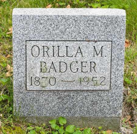 BADGER, ORILLA M. - Wayne County, Ohio | ORILLA M. BADGER - Ohio Gravestone Photos