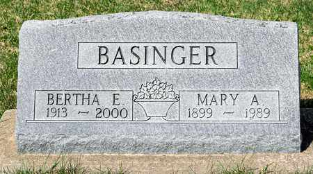 BASINGER, MARY A - Wayne County, Ohio | MARY A BASINGER - Ohio Gravestone Photos