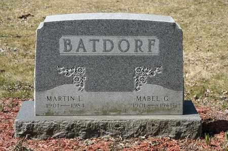 BATDORF, MABEL G. - Wayne County, Ohio   MABEL G. BATDORF - Ohio Gravestone Photos