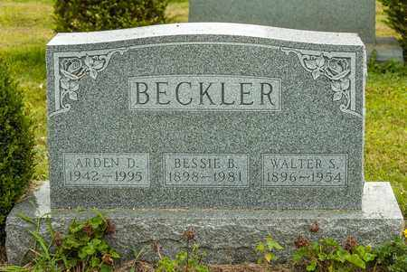 BECKLER, WALTER S. - Wayne County, Ohio | WALTER S. BECKLER - Ohio Gravestone Photos