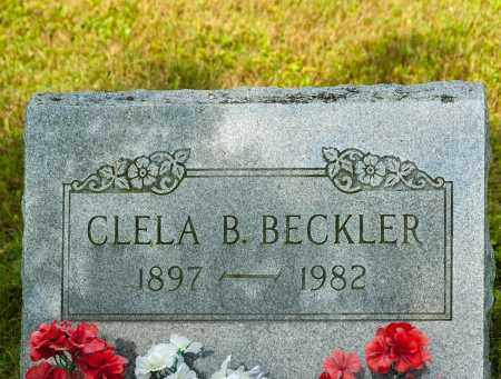 BECKLER, CLELA B. - Wayne County, Ohio   CLELA B. BECKLER - Ohio Gravestone Photos