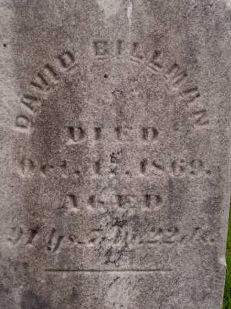 BILLMAN, DAVID - CLOSEVIEW - Wayne County, Ohio | DAVID - CLOSEVIEW BILLMAN - Ohio Gravestone Photos