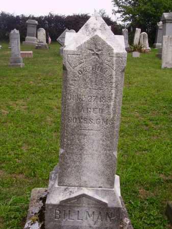 BILLMAN, JACOB - Wayne County, Ohio | JACOB BILLMAN - Ohio Gravestone Photos