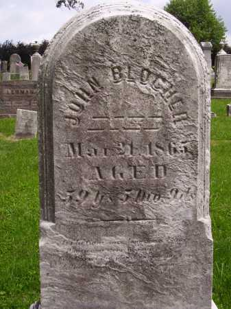 BLOCHER, JOHN - Wayne County, Ohio | JOHN BLOCHER - Ohio Gravestone Photos