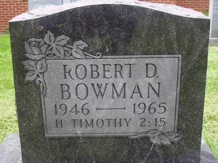 BOWMAN, ROBERT D. - Wayne County, Ohio | ROBERT D. BOWMAN - Ohio Gravestone Photos