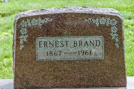 BRAND, ERNEST - Wayne County, Ohio | ERNEST BRAND - Ohio Gravestone Photos