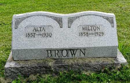 BROWN, MILTON - Wayne County, Ohio | MILTON BROWN - Ohio Gravestone Photos