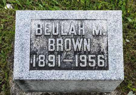 BROWN, BEULAH M. - Wayne County, Ohio | BEULAH M. BROWN - Ohio Gravestone Photos