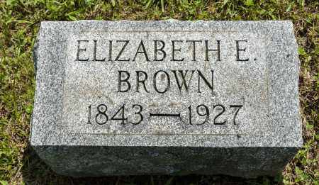 BROWN, ELIZABETH E. - Wayne County, Ohio | ELIZABETH E. BROWN - Ohio Gravestone Photos
