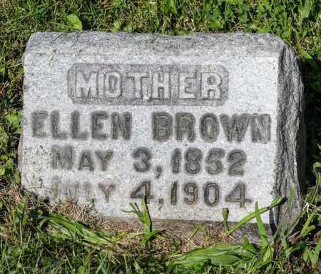 BROWN, ELLEN - Wayne County, Ohio   ELLEN BROWN - Ohio Gravestone Photos