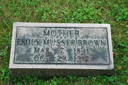 MUSSER BROWN, EMILY - Wayne County, Ohio   EMILY MUSSER BROWN - Ohio Gravestone Photos