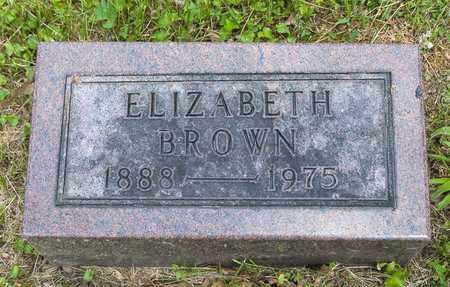 BROWN, ELIZABETH - Wayne County, Ohio   ELIZABETH BROWN - Ohio Gravestone Photos