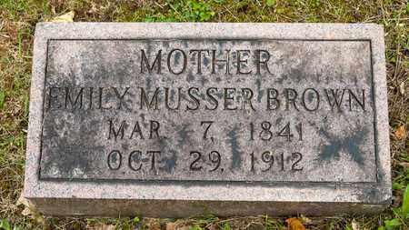 BROWN, EMILY - Wayne County, Ohio | EMILY BROWN - Ohio Gravestone Photos