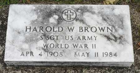 BROWN, HAROLD W. - Wayne County, Ohio | HAROLD W. BROWN - Ohio Gravestone Photos