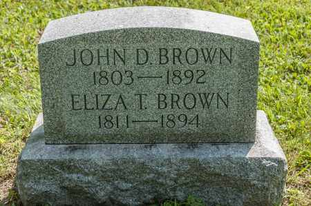 THOMPSON BROWN, ELIZA - Wayne County, Ohio | ELIZA THOMPSON BROWN - Ohio Gravestone Photos