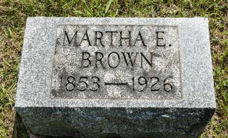 BROWN, MARTHA ELLEN - Wayne County, Ohio | MARTHA ELLEN BROWN - Ohio Gravestone Photos