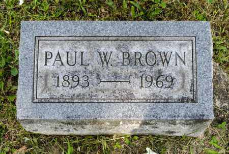 BROWN, PAUL W. - Wayne County, Ohio   PAUL W. BROWN - Ohio Gravestone Photos